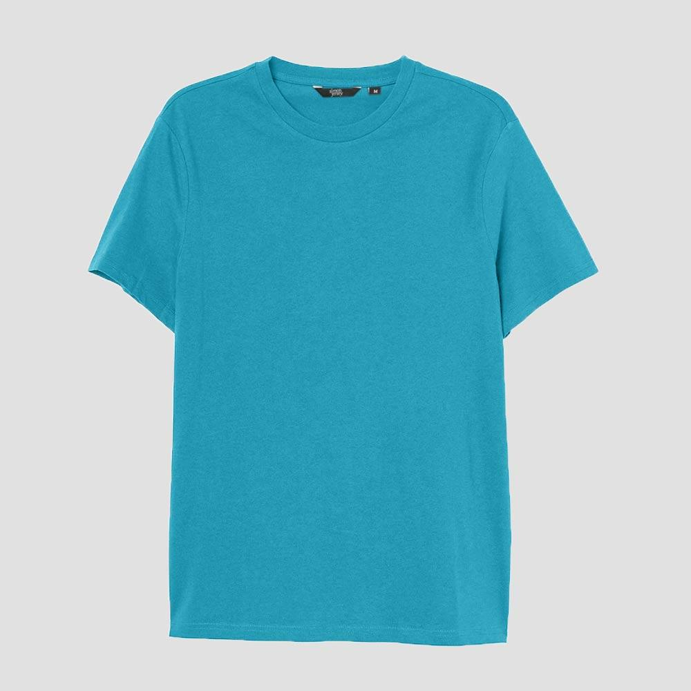 SJ Men's Lavish Crew Neck Tee Shirt Men's Tee Shirt Image Sky Blue XS