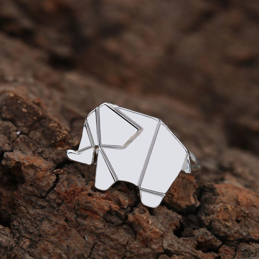 Todorova Adjustable Origami Elephant Finger Ring