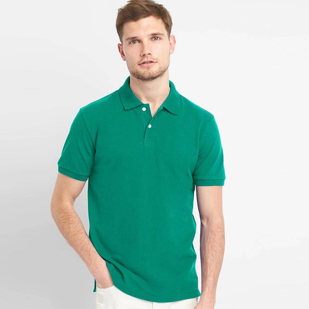 GP Solid Short Sleeve Pique Polo Shirt. Men's Polo Shirt AGZ Turquoise XS