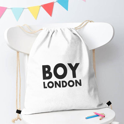 Polo Republica London Boy Drawstring Bag Drawstring Bag Polo Republica White Black