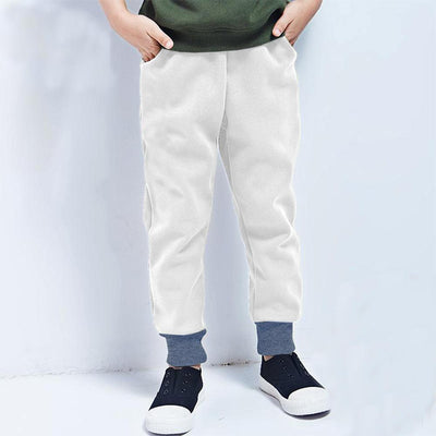 Polo Republica Kids Dosber Classic Sweat Pants Boy's Sweat Pants Polo Republica White Blue 2 Years