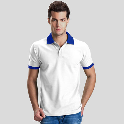 Polo Republica Abrud Polo Shirt Men's Polo Shirt Polo Republica White Blue S