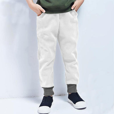 Polo Republica Kids Dosber Classic Sweat Pants Boy's Sweat Pants Polo Republica White Charcoal 9-10 Years