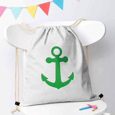 Polo Republica Ship Langar Drawstring Bag Drawstring Bag Polo Republica White Green