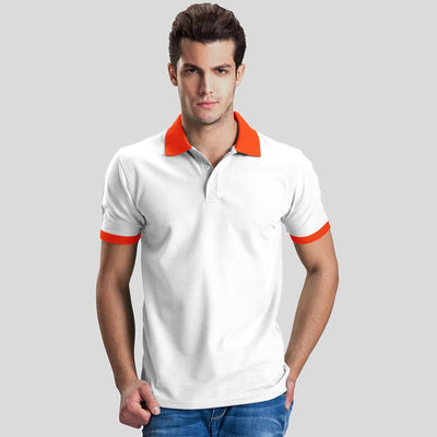 Polo Republica Abrud Polo Shirt Men's Polo Shirt Polo Republica White Orange S