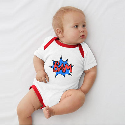 Polo Republica Bam Jersey Baby Romper Babywear Polo Republica White Red 0-3 Months
