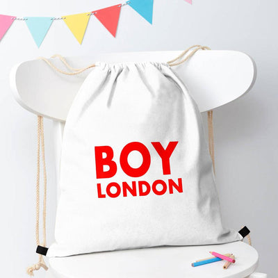 Polo Republica London Boy Drawstring Bag Drawstring Bag Polo Republica White Red