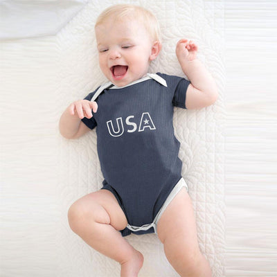 Polo Republica USA Baby Romper Babywear Polo Republica Jeans Marl White 0-3 Months