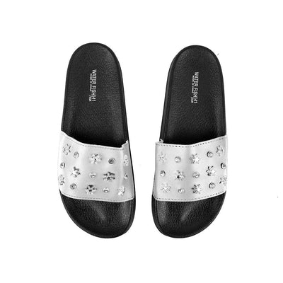 Water Fish Silnate Stones Upper Slippers Women's Shoes Hpral White EUR 35