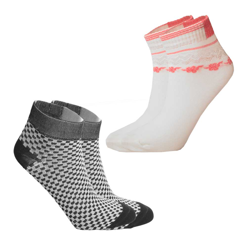 RKI Women's Bayliss Socks Pack of 2 Socks RKI Black & Off White EUR 34-39