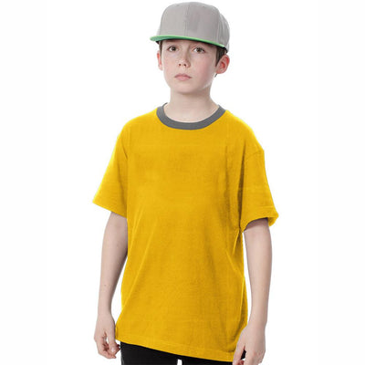 Polo Republica Kids Ringer Tee Shirt Boy's Tee Shirt Polo Republica Yellow 2 Years