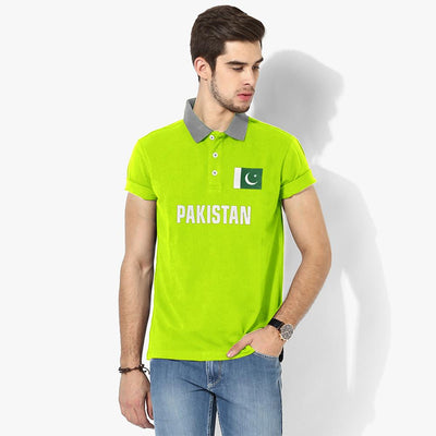 Polo Republica Pak Flag Polo Shirt Men's Polo Shirt Polo Republica Fluorescent Yellow Heather Grey S