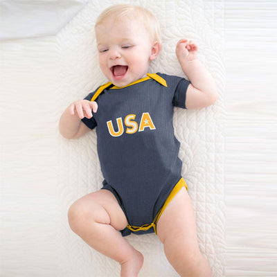 Polo Republica USA Baby Romper Babywear Polo Republica Jeans Marl Yellow 0-3 Months