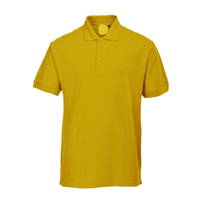 PRT Vonboni Short Sleeve Polo Shirt Men's Polo Shirt Image Yellow L