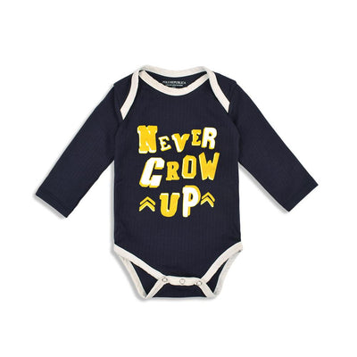 Polo Republica Never Grow Up Baby Romper Babywear Polo Republica Navy Yellow 0-3 Months