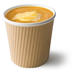 Ripple Wrap uni-cup, takeaway bæger til suppe, 490 ml (min. 500 stk.)