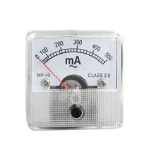PANEL METER 500mA DC 50mm