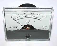 PANEL METER 500mA DC 60mmXH46mm