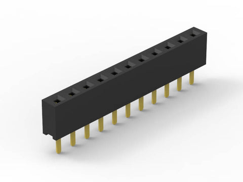 HEADER FEMALE SIL PCB MOUNT P:2.54mm