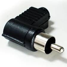 RCA MALE / PLUG RIGHT ANGLE