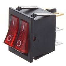 ROCKER DUAL DPDT 2XON-ON ILLUMINATED 26X22mm