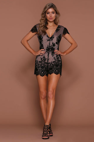Tainted Love Playsuit - Black