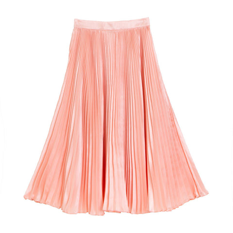 กระโปรงพลีท Italian Silk Pleated Skirt - Amorange
