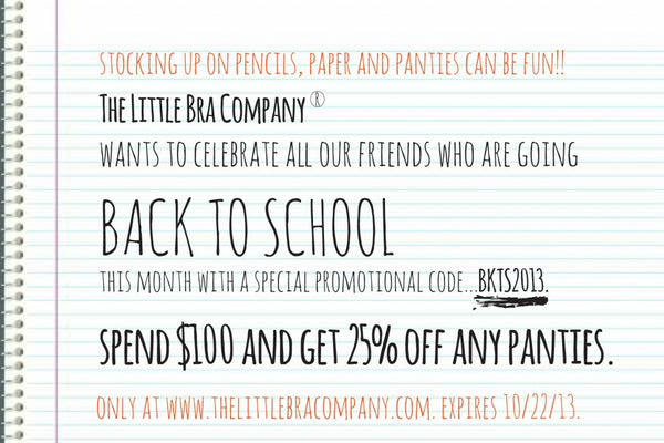 TLBC Back To School PROMO!