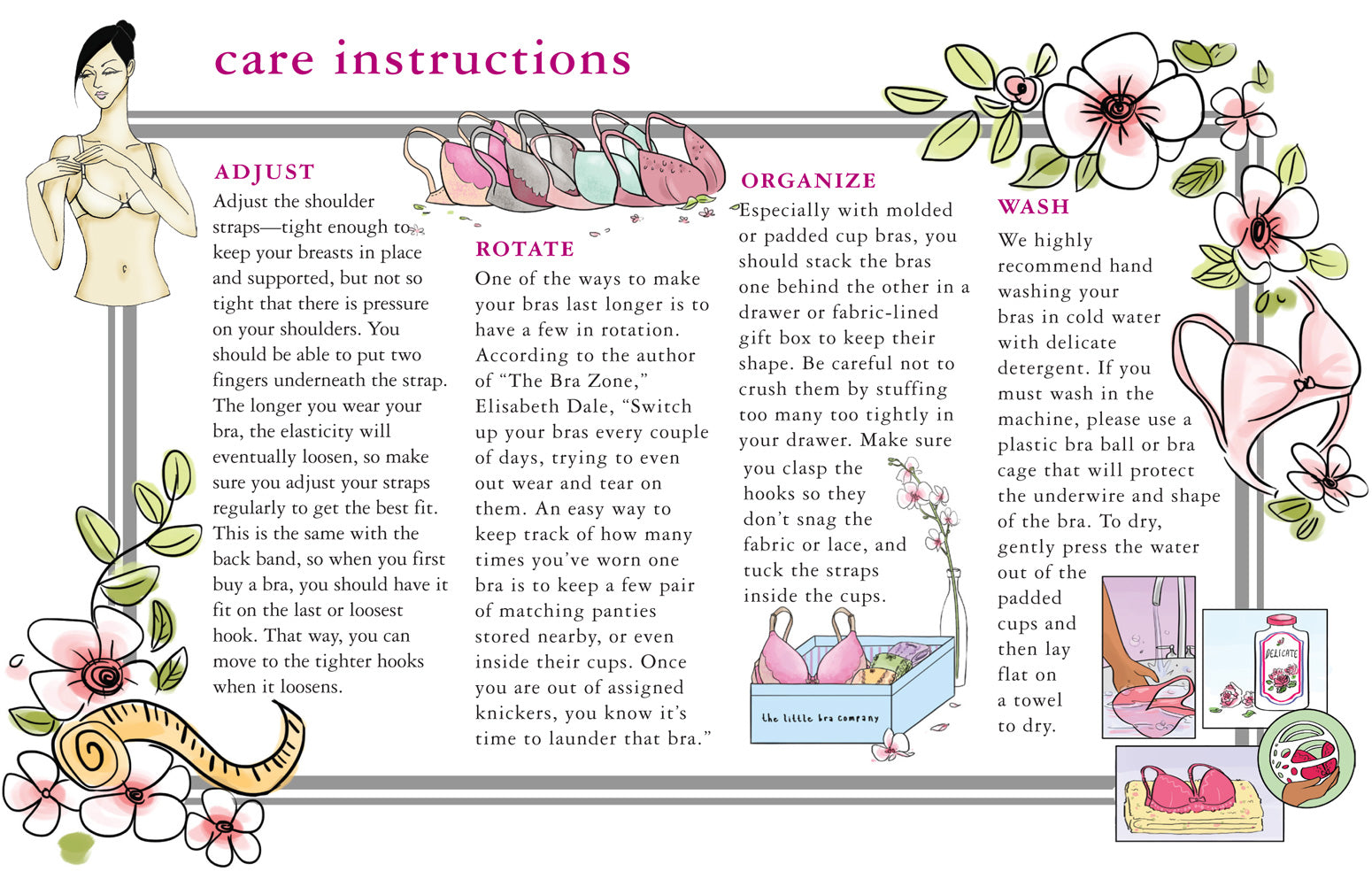 Care Instructions The Little Bra Company