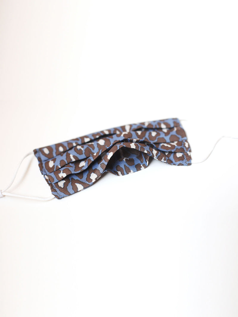 Blue Leopard (Pleated)