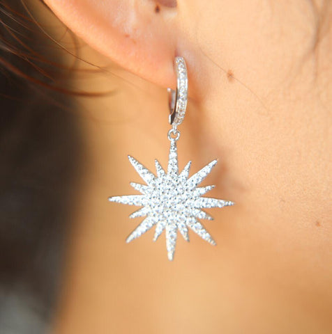 star, earring, silver, sparkle, crystal, accessory, accessories, jewellery