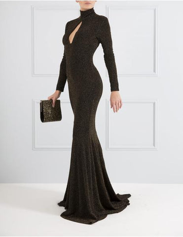Fiona Black and Gold Gown