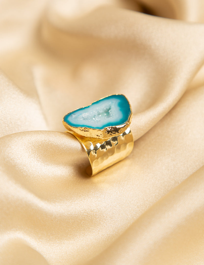 CLEOPATRA HOWLITE RING - GRADIENT BLUE