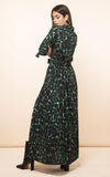 dove, dove dress, dancing leopard, alligator print, green alligator print,