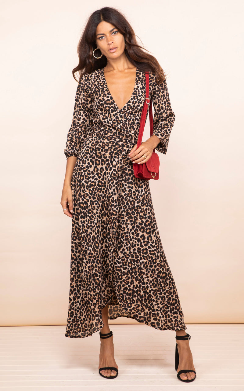 JAGGER DRESS IN RICH LEOPARD - Dancing Leopard