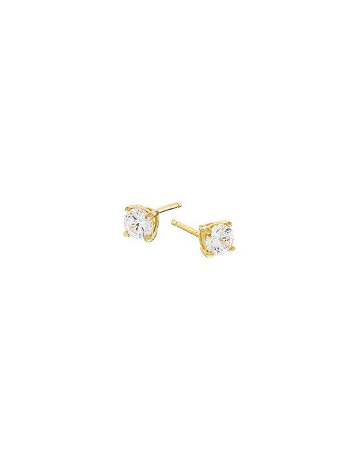 Exploring the beauty of nature in design; these simply stunning 18k gold plating sterling silver stud earrings with pavè stone insets are the perfect go-to accessory for daily wear or as a special something for that someone special