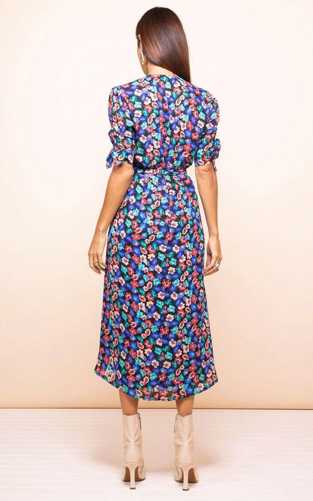 OLIVERA MIDI DRESS IN MULTI FLORAL - Dancing Leopard