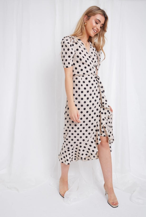Summery dotted wrap dress - Avery Wrap Dress - Shop online on Coco Boutique