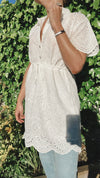 LALA ANGLAISE DRESS - White
