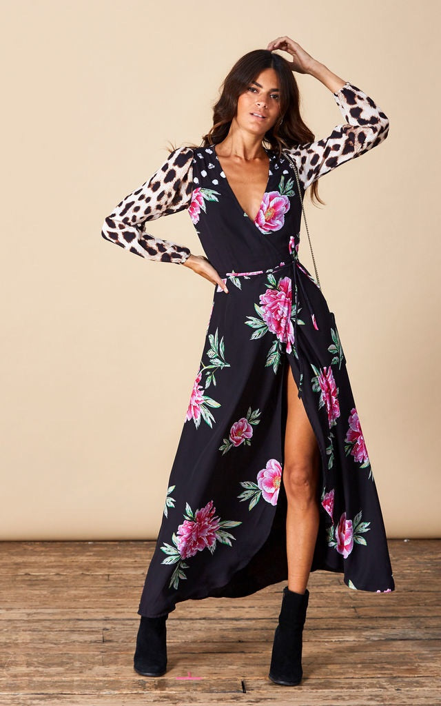 d2a50be763 Jagger Wrap Dress - Dancing leopard ...