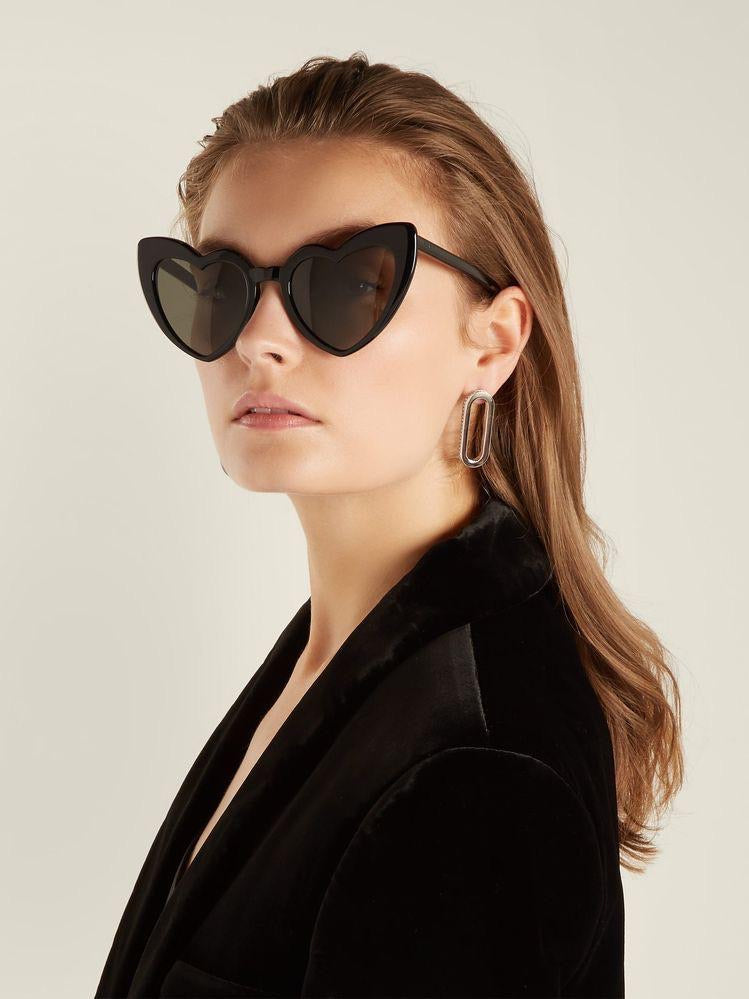 DEMMIE LOVEHEART SUNGLASSES - Black