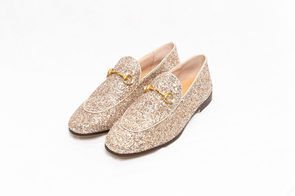 THE LEATHER SHOE - Champagne Glitter