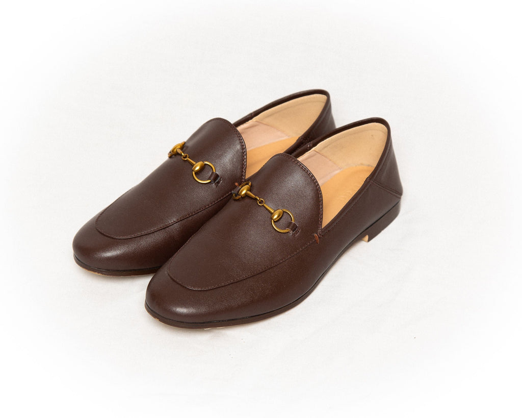 THE LEATHER SHOE - CHOCOLATE