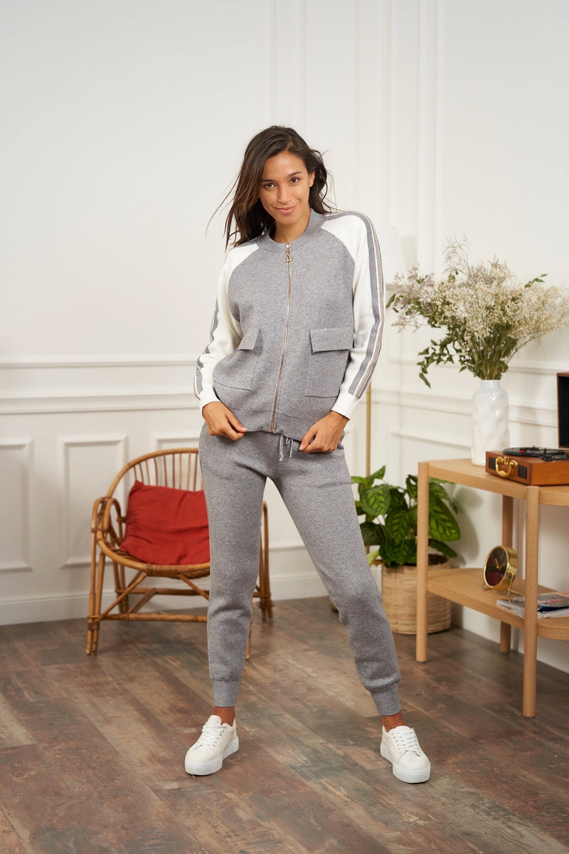 LUXE TRACKSUIT - Grey Marl
