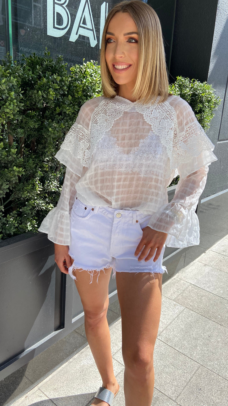 ANABELLA IVORY LACE TOP