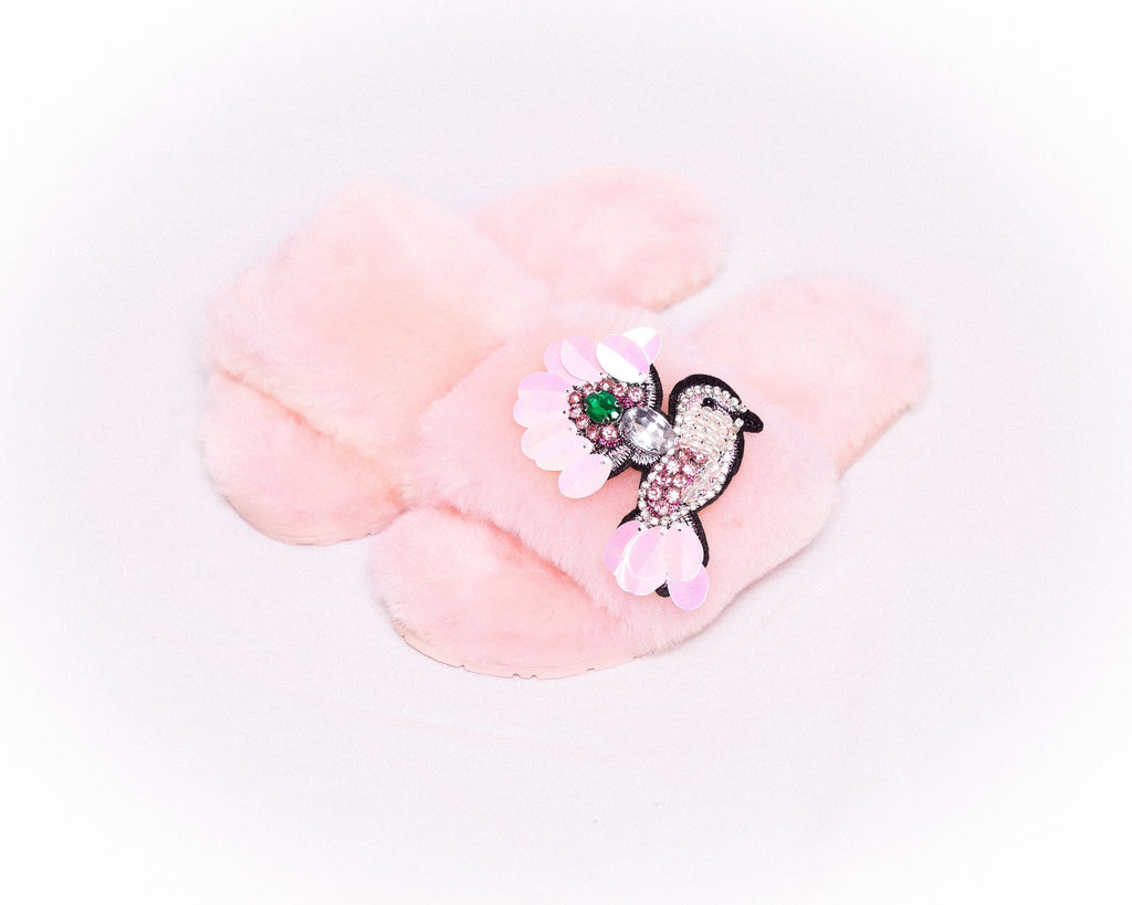 LUXURY SHEARLING SLIPPER SOFT PINK