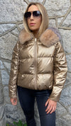 PARIS PUFFER DOWN JACKET IN CHAMPAGNE /PRE-ORDER ITEM