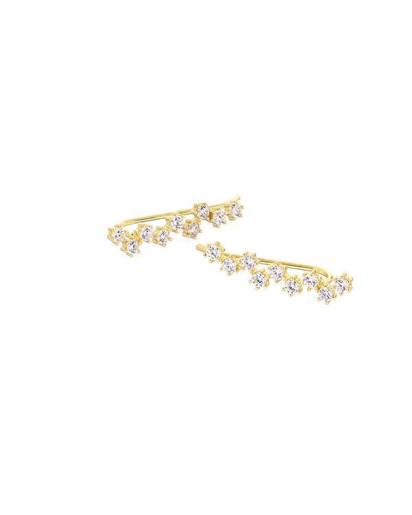 MARY K PAVÉ CLUSTER CRYSTAL EAR CLIMBER