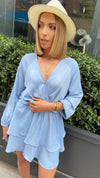 SIRA LAYER DRESS - Baby Blue