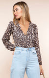 dancing leopard, bodysuit, leopard, leopard print, long sleeves, rich leopard, puff sleeves